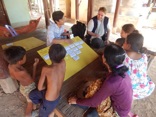 Photo 1. Q-sort focus group in Thma Reab, Cambodia