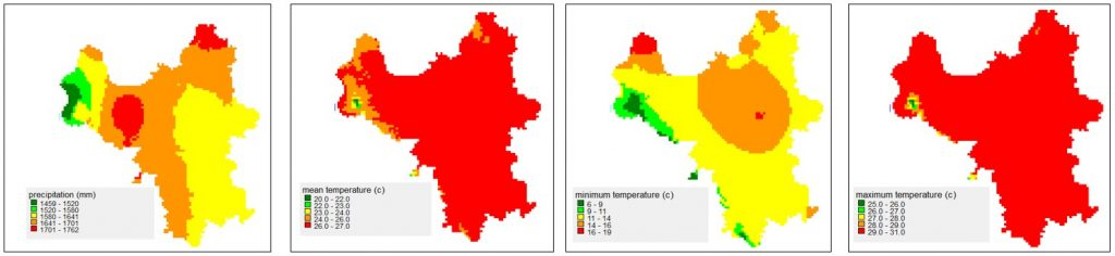 Figure 2. Climate projection for Hanoi for the year 2050.
